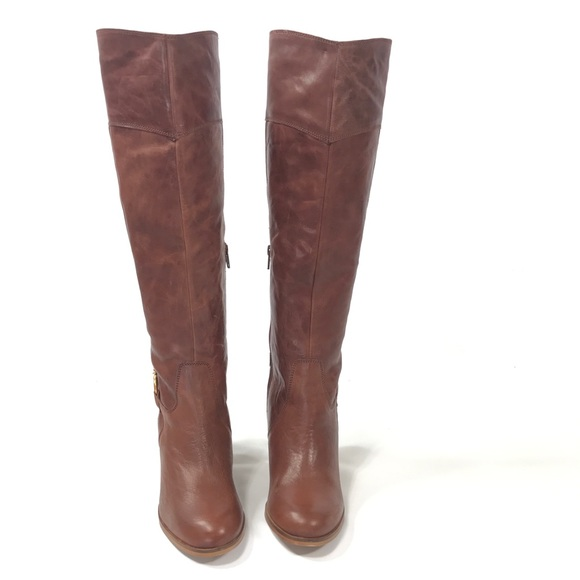 fbb306db6eb ❤️Leather knee high boots Sz 8 tan